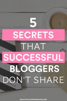 Sharing the secrets that successful bloggers don't tell you. Use these blogging tips to grow your blog. via @tiffany_griffin