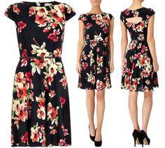 Look do dia – Vestidos pretos floridos