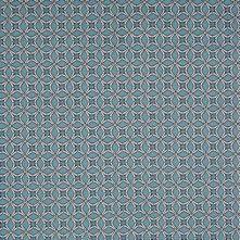 Milky Blue Geometric Stretch Cotton Sateen