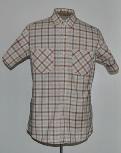 Carhartt Shirt M Multi-Color Plaid 100% Cotton Short Sleeve Point (Straight) #Carhartt free shipping Buy Now  $18.99