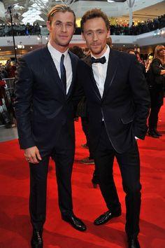 Chris Hemsworth and Tom Hiddleston! Ma favorites, y'all!
