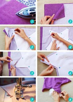 Baby Sewing Projects, Sewing For Kids, Sewing Crafts, Macrame Wall Hanging Diy, Star Diy, Pillow Tutorial, Flower Pillow, Baby Pillows, Diy Home Crafts