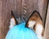 Your place to buy and sell all things handmade Wolf Ears, Metal Headbands, Staircases, Corgi, Grey, Animals, Gray, Corgis, Animales