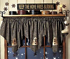 Cute valance for the winter months...COUNTRY-KITCHEN-SNOWMAN-VALANCES