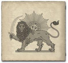 ran Flag - Persian Ancient Lion - Google Search