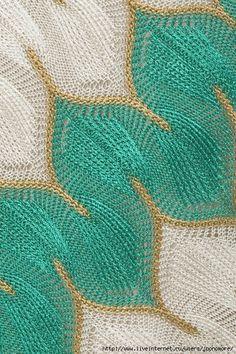 Geométrie dans le tricot ou le crochet