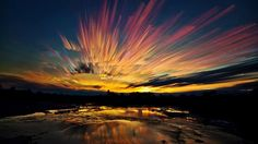 Canadian photographer Matt Molloy creates a stunning time-lapse image by stacking several photos taken of the sunset in Ontario, Canada, on May 1, 2013. (Matt Molloy)