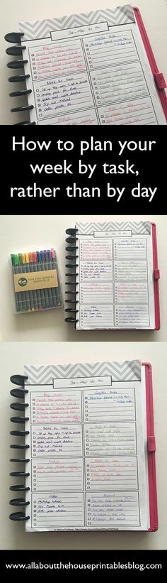 how to plan your week by task rather than by day 52 planners in 52 weeks a different take on bullet journaling free planner printable to do list