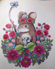 Jag älskar Blomstermandala :) @maria_trolle #blomstermandala #mariatrolle #målarbokförvuxna #colorbookforadults #colorbook #målarböckerförvuxnaalabondmoran