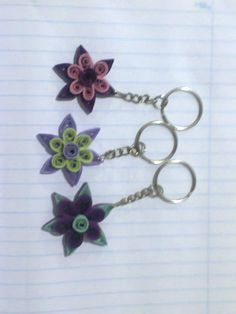 paper quilling key tags