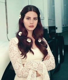 Lana Del Rey photo on the back of the Lust for Life vinyl