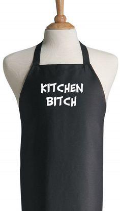 a8e485f03b719 Funny Cooking Aprons Kitchen Bitch Adults Black Apron Novelty