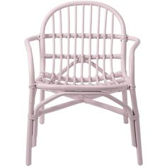 Bloomingville Rattan Armchair in Pink ($340) ❤ liked on Polyvore featuring home, furniture, chairs, rattan furniture, bloomingville, hand made furniture, handcrafted furniture and rattan arm chair