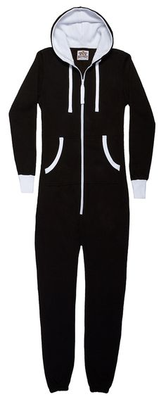 801 Black Hoodie Onepiece Jumpsuit S-XXL Big Feet Hoodie Onepiece Jumpsuits are the answer to both active wear and lounge wear. This soft Cotton/Poly (80/20) blend is excellent for staying warm and comfy indoors as well as the perfect accessory for most all outdoor activities.. Big Feet Jumpsuits have a large hood with drawstring and 3 pockets including the deep side pocket which is zippered to protect your valuables.   http://www.bigfeetpjs.com/pajama-sleepwear/801.html
