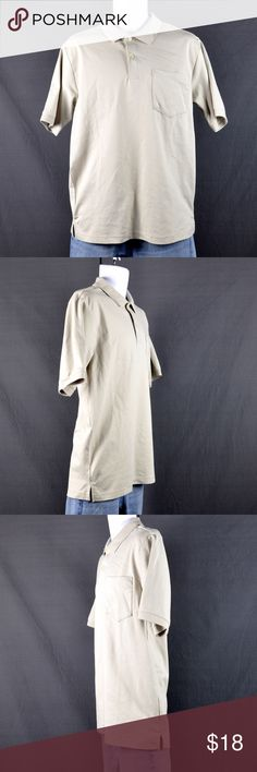 "NWOT Men's Covington Tan Polo Shirt Sz: M Shirt is like New, washed but never worn. Front pocket.   60% cotton 40% polyester Medium  Measured laying flat: Shoulder: 18.5"" Chest: 21"" Waist: 20 3/4"" Sleeve A: 10"" Sleeve length: 10.5"" Biceps: 6"" Length: 29"" Hem: 20.5""  ❤️bundles ❌trades Please check out the rest of my closet, tons of goodies to be had💕 Covington Shirts Polos"