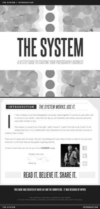 THE SYSTEM : A 10 Step Guide to Starting Your Photography Business {This system is meant to be a free gift.  It's a collaboration from Showiteers all over the world.}  Spread the love.  <3