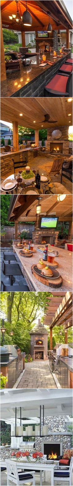 Fabulous #OutdoorKitchen Ideas