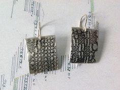 Pendientes rectangulares de plata Pendientes de por OrigenJoyas