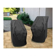 These durable, heavy duty 6 gauge flexible black vinyl covers with stitched seams for extra strength, slip on and off easily with over-sized free form fit and hold secure with strong elastic bottoms Like A Storm, Outdoor Furniture Covers, Outside Patio, Stacking Chairs, How To Clean Furniture, Vinyl Cover, Cover Size, Barbecue Grill, Brewing