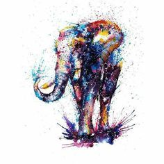 Image result for watercolor elephant tattoo