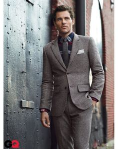 James Marsden in Tweed Suits for Fall