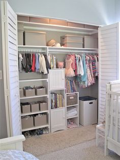Love the organization in this closet! If only my kids' closet could be that clean ...