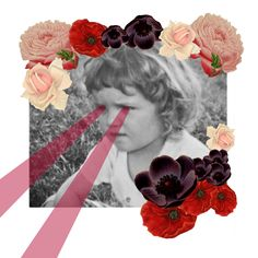 """""""Baby"""" - #Collage #flowers #graphism #vintage #rétro"""
