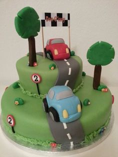 Cake with cars (made by my mom)