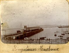 Early photograph of Kingstown (Dun Laoghaire) Harbour  #photo