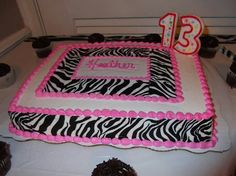 Zebra Stripe Birthday Cake 16 Best Favorite Places Spaces Images On Pinterest