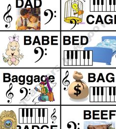 I love musical spelling words! One more fun way to master note reading.