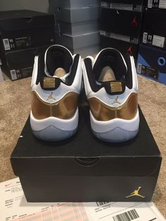49657fd623e1 NIKE AIR JORDAN 11 XI RETRO LOW CLOSING CEREMONY OLYMPIC GOLD SZ 11 DS
