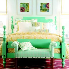 Love the bed color for playroom