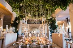 Romantic Wedding Tablescape and Lush Green Canopy by Johanna Terry Events | Photo: Civic Photos