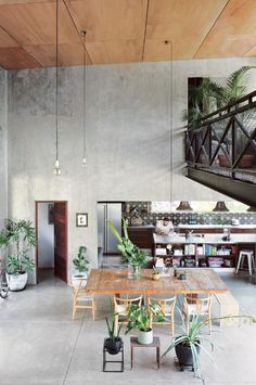 Built using just four materials – concrete, steel, glass and merbau timber – this warehouse in the rainforest is a four-bedroom new build, designed by owner Matt O'Connor, a music executive; and his wife Bree, a homewares designer, in 2010.