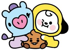 sticker by 💗 BTS. Discover all images by 💗 BTS. Find more awesome mang images on PicsArt. Bts Chibi, Bts Kawaii, Kawaii Art, Bts Drawings, Doodle Drawings, Cartoon Wallpaper, Bts Wallpaper, Kpop Diy, Bts Pictures