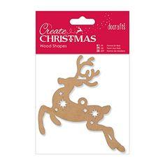 Papermania Bare Basics Wooden Kraft Christmas Laser Cut Shapes - Reindeer: Amazon.co.uk: Office Products