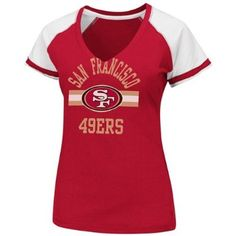 Amazon.com   San Francisco 49ers Womens Go For Two ll Red V-neck T-shirt  XX-Large   Sports Related Merchandise   Clothing 17cff19ad