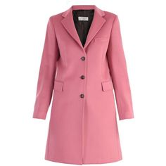 Alberto Biani Coat ($535) ❤ liked on Polyvore featuring outerwear, coats, pink, pink coat, woolen coat, wool coat, alberto biani and pink wool coat