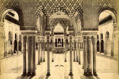 Patio de los leones. Vista histórica del palacio