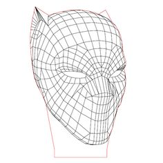 Black Panther's Helmet 3d illusion lamp plan vector file for CNC - 3bee-studio