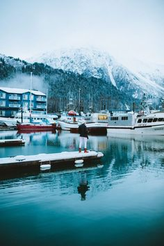 Dive into the beautiful town of Seward, Alaska and explore Resurrection Bay, see marine life, hike glaciers, and so much more! We're sharing what to d. Alaska Travel, Travel Usa, Alaska Trip, Norway Travel, Mexico Canada, Places To Travel, Places To Visit, Seward Alaska, Destinations