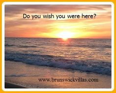 Would you love to enjoy this view each morning? http://www.brunswickvillas.com