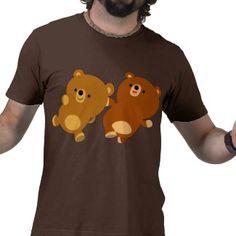 Cute Facetious Cartoon Bears T-Shirt