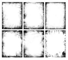 Free grunge frames pack. Useful for various projects like creating old style posters, western designs, bottle labels, backgrounds, collages ... etc. Included 6