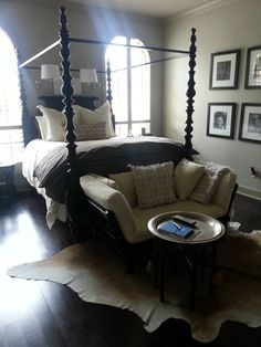 Master bedroom in brown