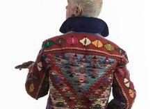 The final reveal in this last installment of the kilim carpet coat series by Kenneth D. Big Finish, Trash To Treasure, Vests, Challenge, Carpet, King, Couture, Coat, People