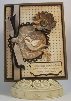 Friendship Bird by woodujim - Cards and Paper Crafts at Splitcoaststampers