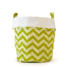 Canvas Bucket Lg Green by chewing the cud