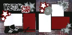wrestling scrapbooking ideas | Wrestling Moms: Wrestling Scrapbook Page by Out On A Limb